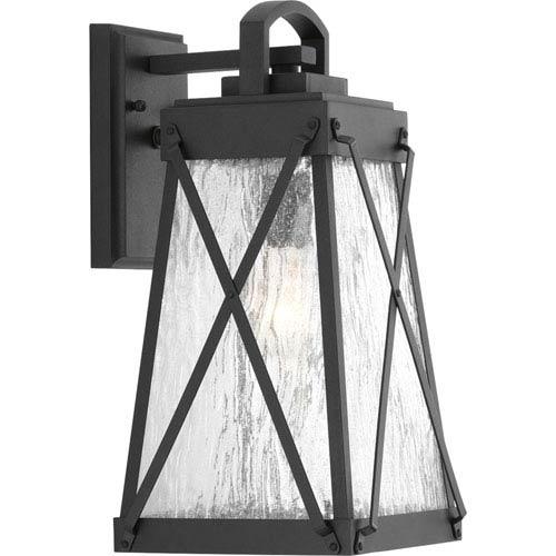 P560032-031: Creighton Black One-Light Outdoor Wall Mount