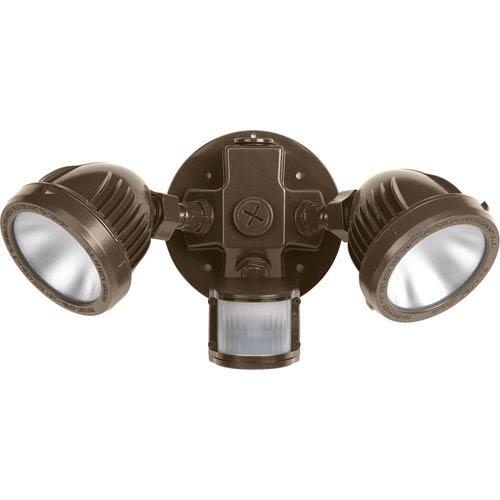 P6341-2030K: Security Antique Bronze Two-Light LED Outdoor Flood Light
