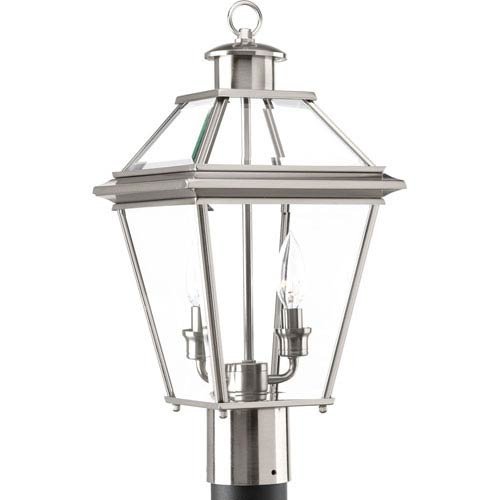 P6437-09: Burlington Brushed Nickel Two-Light Outdoor Post Mount