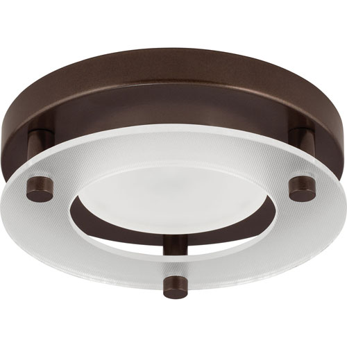 Progress Lighting P8247-20-30K: Antique Bronze Energy Star One-Light LED Flush Mount