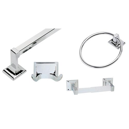 Millbridge Polished Chrome Four-Piece Bathroom Kit