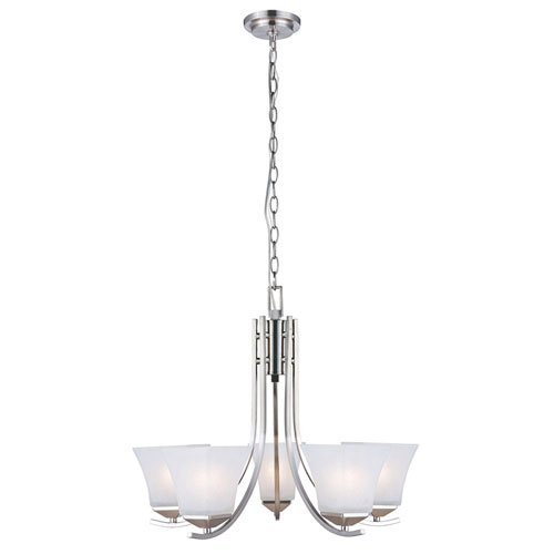 Torino Five-Light Satin Nickel Chandelier