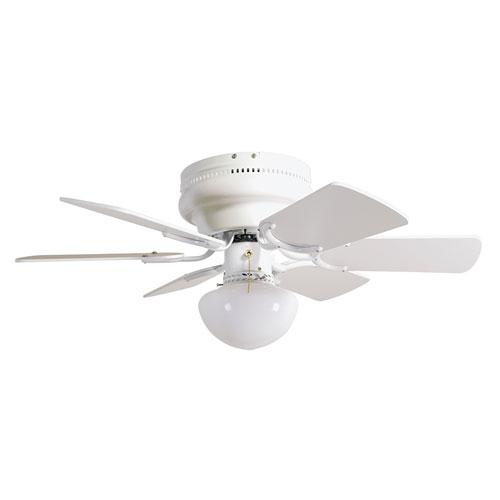 Atrium 30-Inch White Hugger Fan