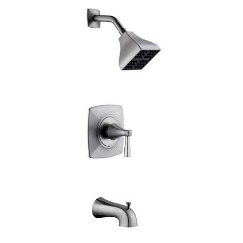 Perth Tub and Shower Faucet, Satin Nickel Finish
