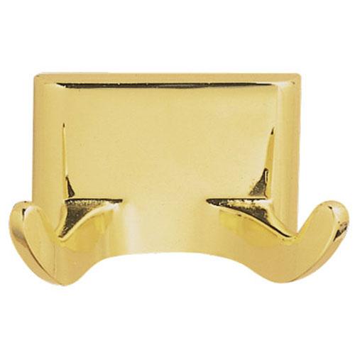 Design House Millbridge Polished Brass Double Robe Hook