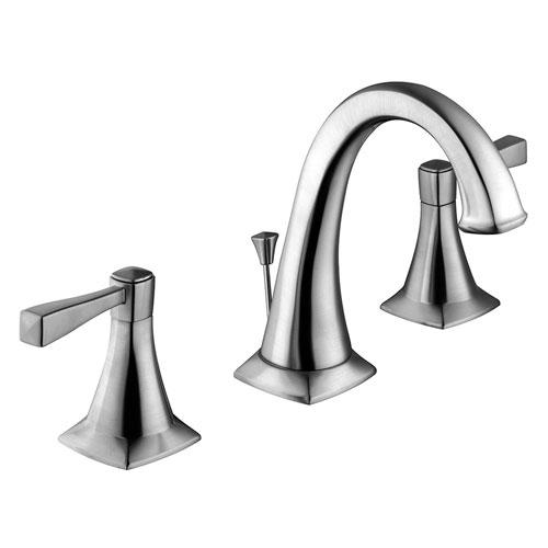 Perth 2-Handle Lavatory Faucet, Satin Nickel Finish