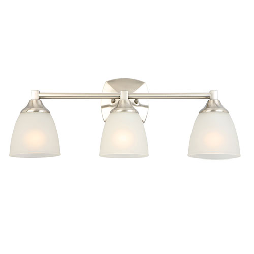 Design House Perth 3-Light Vanity Light, Satin Nickel Finish