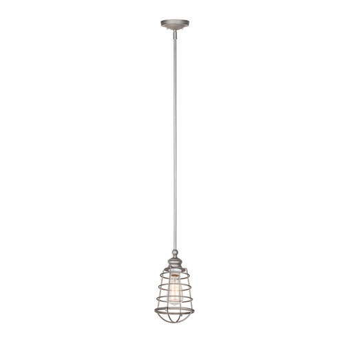 Ajax Galvanized 1-Light Mini Pendant