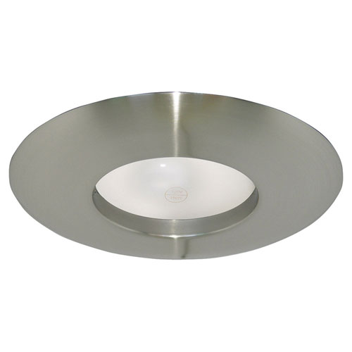 Satin Nickel 6-Inch Recessed Lighting Wide Ring Trim
