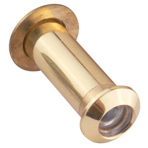 Satin Brass Adjustable 35-55-Milimeter Door Viewer Peephole