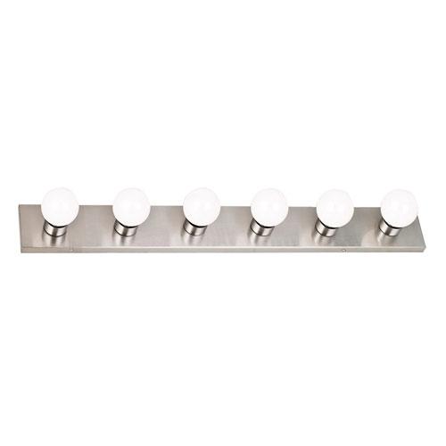 Design House Satin Nickel Six-Light Vanity Wall Sconce