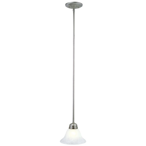 Millbridge Satin Nickel Single-Light Mini Pendant