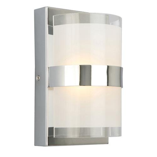 Haswell Single-Light LED Wall Light, Polished Chrome