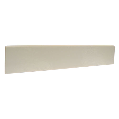 Claremont Solid White 18-Inch Universal Cultured Marble Side Splash