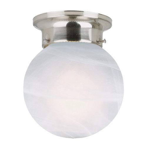 Design House Millbridge Satin Nickel Single-Light Globe Ceiling Mount