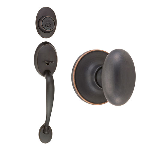Design House Coventry Oil Rubbed Bronze Two-Way Handle Set with Egg Knob