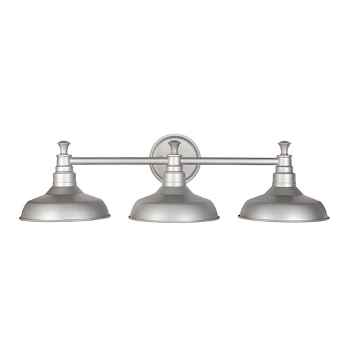 Kimball Galvanized 3-Light Bathroom Vanity Light
