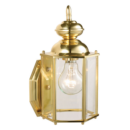 Augusta Solid Brass Outdoor Wall Mounted Light