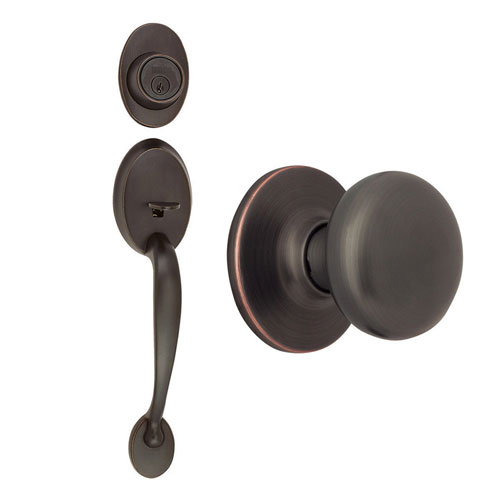 Design House Coventry Oil Rubbed Bronze Two-Way Latch Entry Door Handle Set with Knob