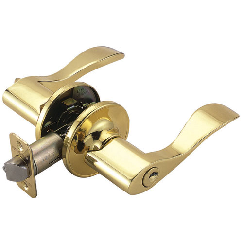 Design House Springdale Polished Brass Two-Way Latch Entry Door Handle