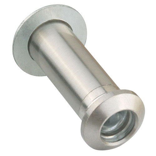Design House Satin Nickel Adjustable 35-55-Milimeter Door Viewer Peephole
