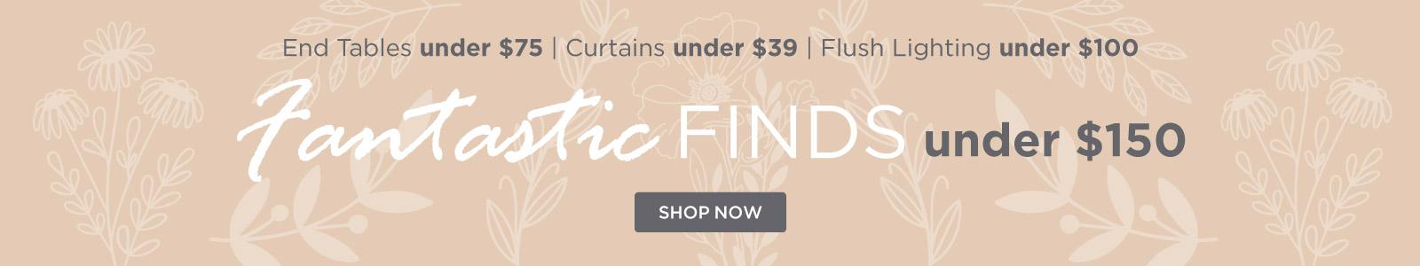 Fantastic Finds under $150