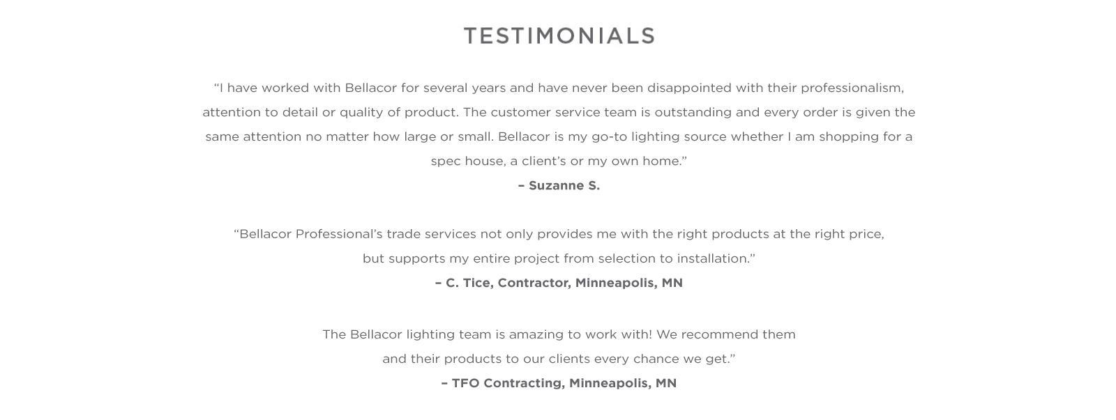 Bellacor Pro Advantage: We Help Pros Find What They Need