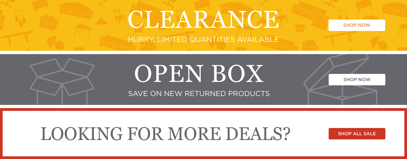 Clearance & Open Box & All Deals