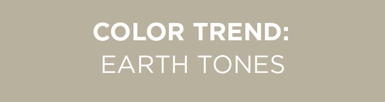 Color Trend: Earth Tones
