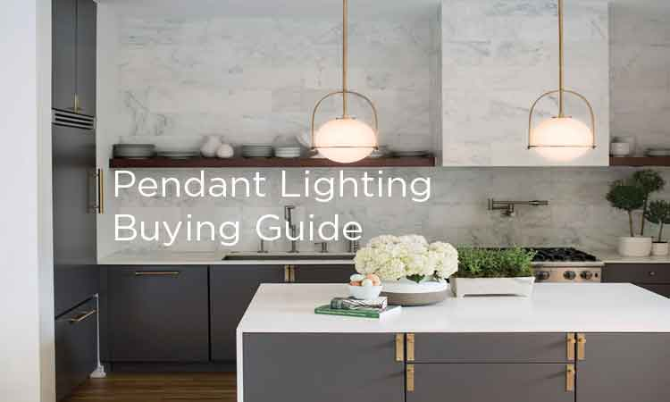 banner showing two pendant lights over kitchen island