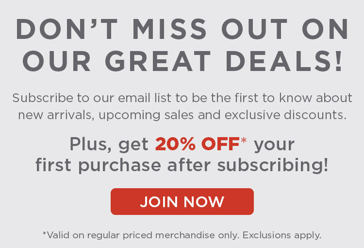 Get 20% off your first purchase for subscribing to emails!