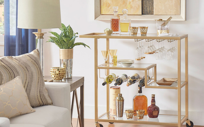 Contemporary Glam Entertaining Space