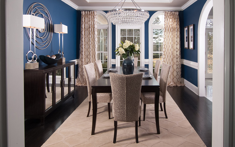 Geometric Transitional Dining Room