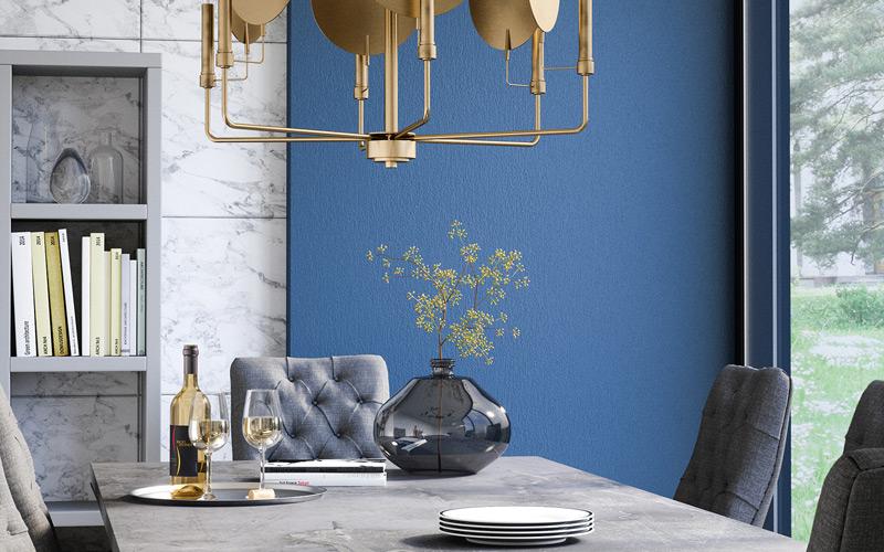 Bold Gold Mid Century Modern Dining Room