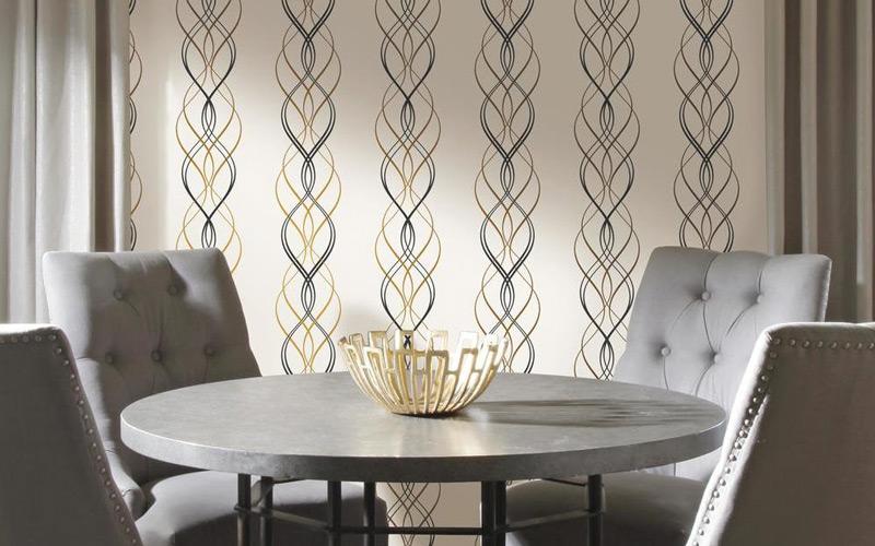 Geometric Glam Dining Room