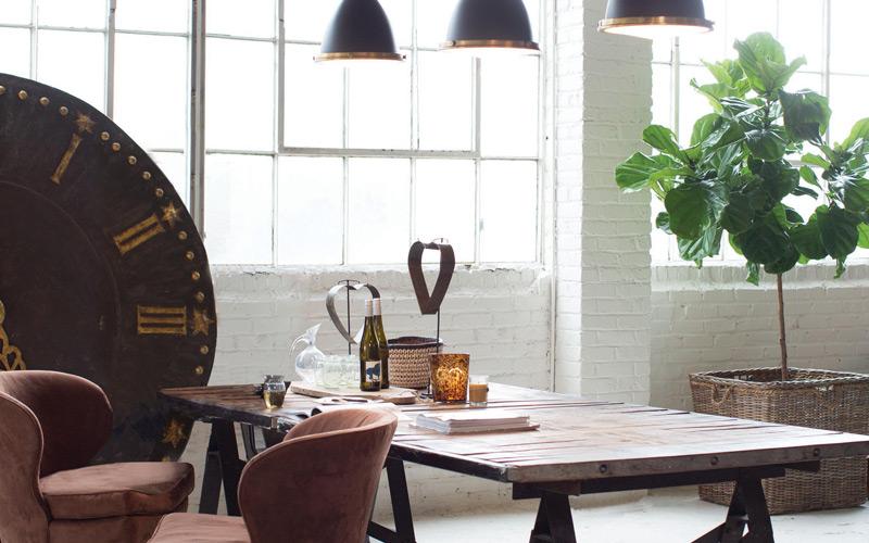 Urban Mixed Metals Dining Room