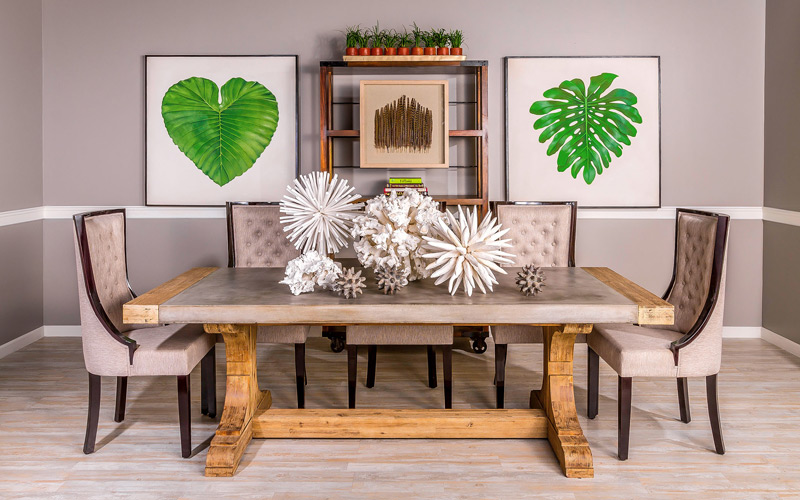Nature Themed Urban Industrial Dining Room