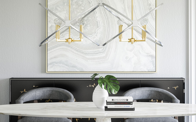 Mixed Metals Geometric Glam Office