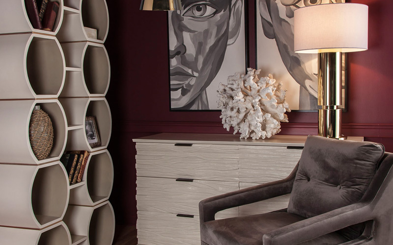 Gray & Gold Luxe Contemporary Office