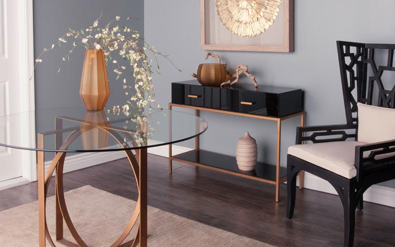 Black & Bronze Geometric Luxe Office