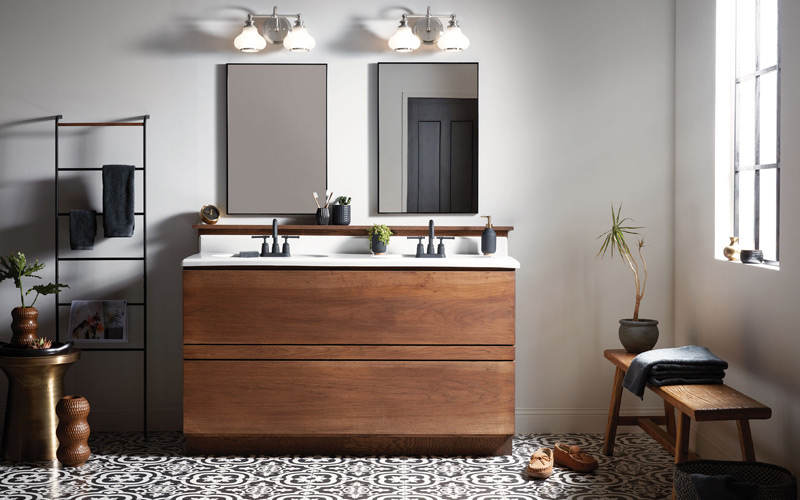 Modern Mixed Materials Bathroom