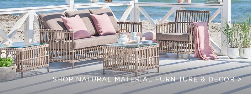 Natural Materials Furniture and Decor