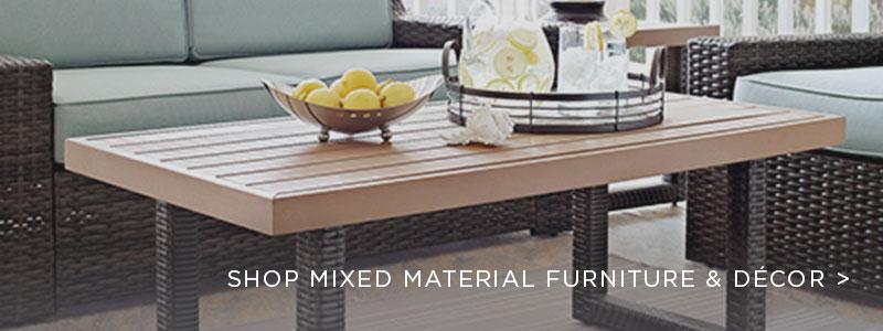 Mixed Materials Furniture & Decor