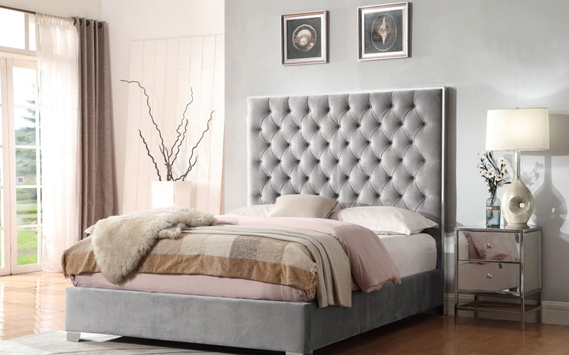 Shades of Gray Cozy Luxe Bedroom