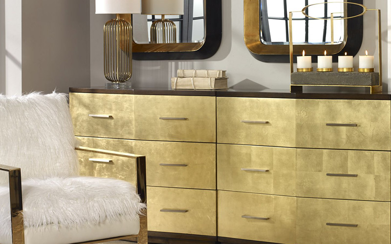 Golden Luxe and Glam Bedroom