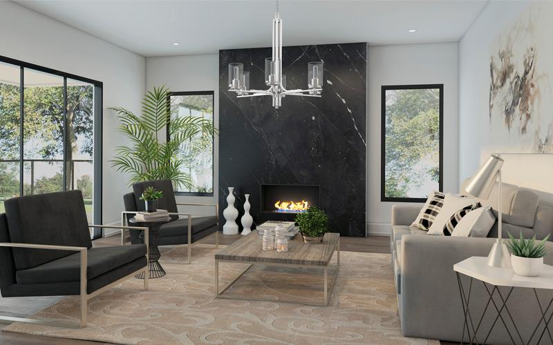 Contemporary Cozy Neutrals Living Room