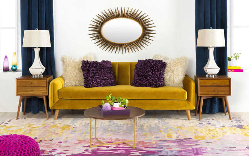 Jeweled Midcentury Modern Living Room