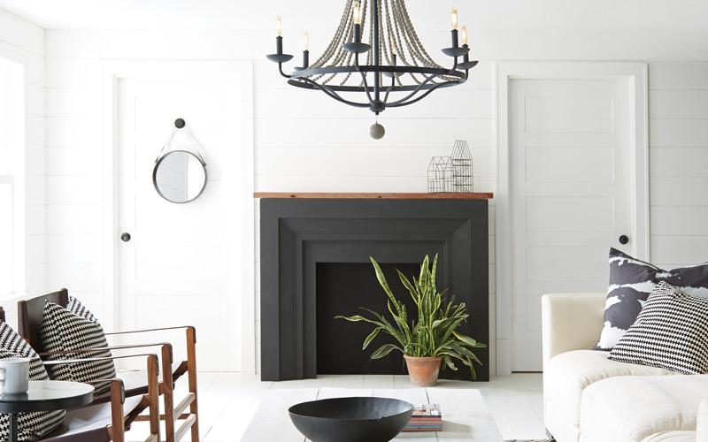 Black & White Modern Scandinavian Living Room