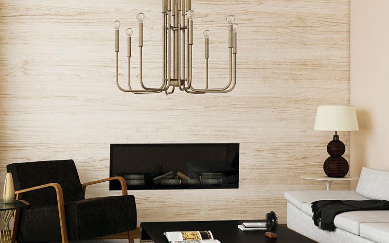 Black & White Mid Century Modern Living Room
