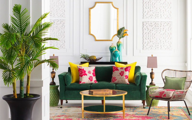 Tropical Glam Living Room
